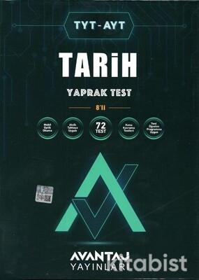 Avantaj Yayınları - TYT-AYT Tarih Konu Kazanım Yaprak Test (8 Öğrencilik)