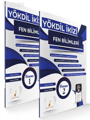 Pelikan Yayınları - YÖKDİL İkizi Fen Bilimleri 2 Özgün Deneme Sınavı Dijital Çözümlü